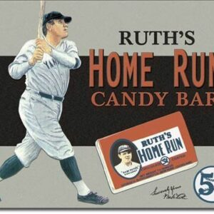 Posters Plechová cedule Babe Ruth – Candy Bar