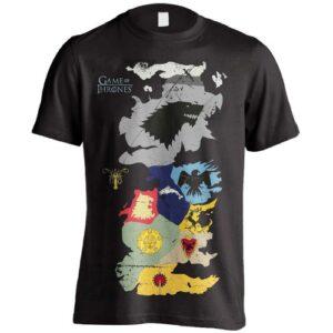 Tričko Game of Thrones - Westeros Sigils Map