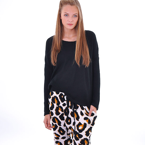 Tričko Top Somedays Lovin PRETENDER KNIT TOP Black - Somedays Lovin