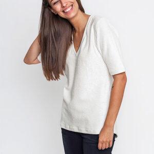 Tričko Jednobarevná KOIVU V-Neck White - KOIVU