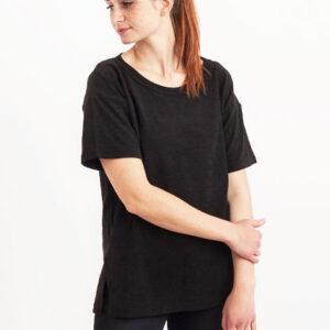 Tričko Jednobarevná KOIVU Boxy Black - KOIVU