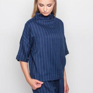 Tričko Top mbyM Edwina blue pinstripe - mbyM