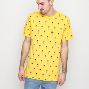 Tričko Triko WeSC Maxwell Palms AOP WeSC Yellow - WeSC