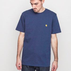 Tričko Triko Carhartt WIP Chase Blue / Gold - Carhartt WIP
