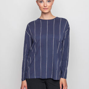 Tričko Triko Thinking MU Vertical Thin Stripes Mood Indigo - Thinking MU