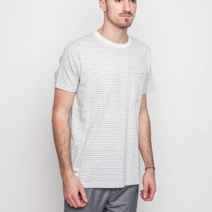 Tričko Triko Wemoto Blake Stripe Off White - Heather - Wemoto