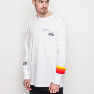 Tričko Triko Cheap Monday Yard ls White - Cheap Monday