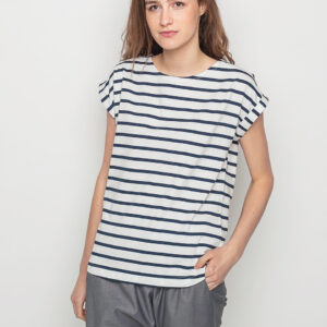 Tričko Triko Wemoto Bell Stripe White - Navy Blue - Wemoto