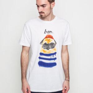 Tričko Triko Dedicated Bon Pug White - Dedicated