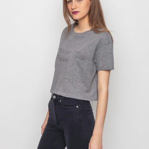 Tričko Crop top Loreak Mendian S/S Pocket Light Cotton Heather Grey - Loreak Mendian