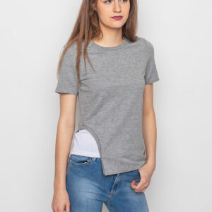 Tričko Top Cheap Monday Pitch Grey Melange - Cheap Monday
