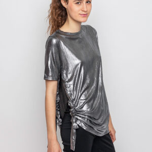 Tričko Top Cheap Monday Set Lurex silver - Cheap Monday