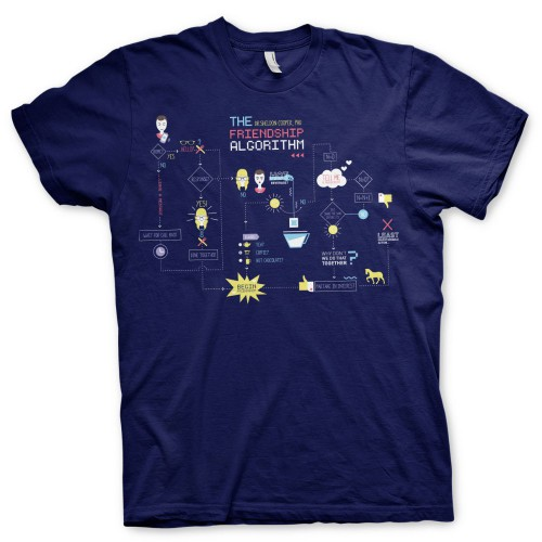 Tričko Big Bang Theory - The Friendship Minions Algorithm (navy blue)