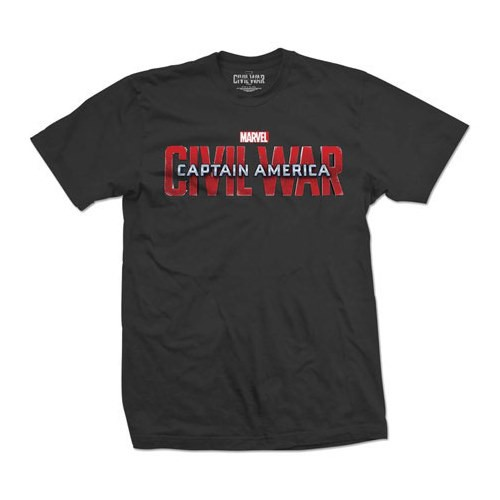 Tričko Captain America Civil War Movie Logo