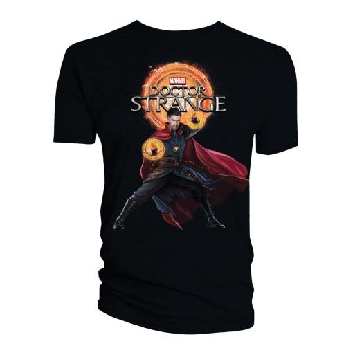 Tričko Doctor Strange - Doctor Strange & Logo - černé
