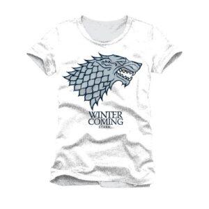 Tričko Game of Thrones - Stark: Winter Is Coming (bílé)