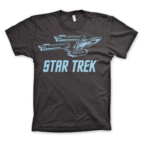 Tričko Star Trek - Enterprise Ship (černé)