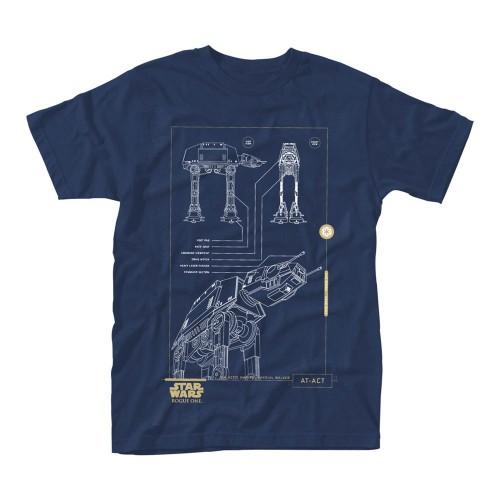 Tričko Star Wars Rogue One - Blue Print