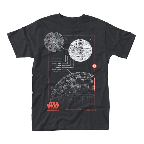 Tričko Star Wars Rogue One - Blue Print Death Star