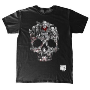 Tričko Walking Dead - Skull Montage