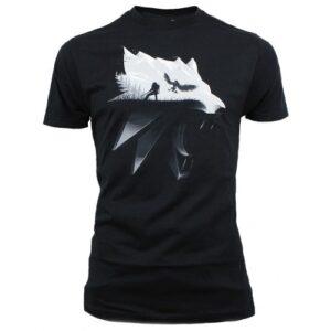 Tričko Zaklínač 3: Wolf Silhouette