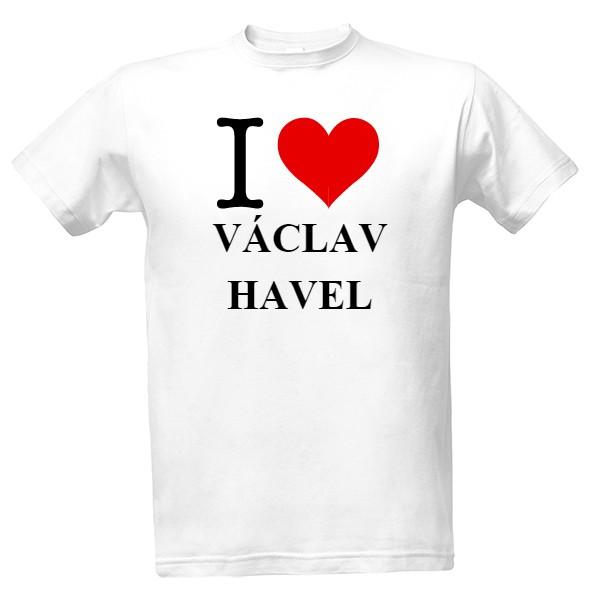 4d3ecaf28fce T-shock tričko s potiskem I love Václav Havel pánské Bílá XXL ...
