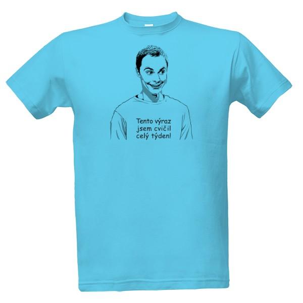 b85fdaec965 T-shock tričko s potiskem Oblíbená seriálová postava pánské Atoll blue S