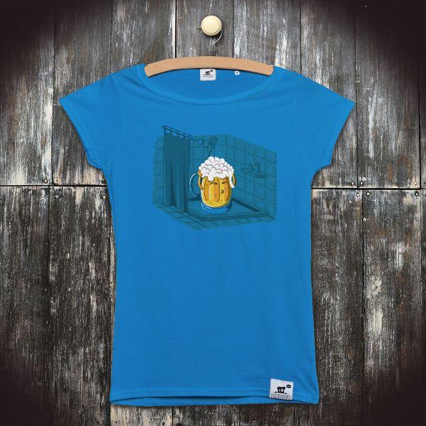 bfc17f50daca Dámské vtipné tričko s potiskem Pivo  Pivní koupel